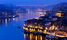 Looking North, from the City of Vila Nova de Gaia, is This  Spectacular Night View of the Douro River and the City of Porto, in Portugal